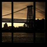 View from the Window - Williamsburg Bridge - New York Photographic Print by Philippe Hugonnard