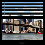 View from the Window - NYC Skyline and Brooklyn Bridge Photographic Print by Philippe Hugonnard