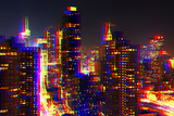 After Twitch NYC - Towers Night Photographic Print by Philippe Hugonnard