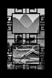 China 10MKm2 Collection - Asian Window - Chinese Buddhist Temple with Karst Mountains Photographic Print by Philippe Hugonnard