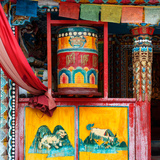 China 10MKm2 Collection - Buddhist Prayer Wheel Photographic Print by Philippe Hugonnard