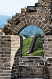 China 10MKm2 Collection - Arch Window of the Great Wall of China Metal Print by Philippe Hugonnard