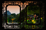 China 10MKm2 Collection - Asian Window - Guilin at night Photographic Print by Philippe Hugonnard