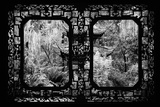 China 10MKm2 Collection - Asian Window - Chinese Pavilion in Garden Photographic Print by Philippe Hugonnard