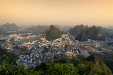 China 10MKm2 Collection - Beautiful Scenery of Yangshuo at sunset Metal Print by Philippe Hugonnard
