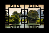 China 10MKm2 Collection - Asian Window - Guilin Yangshuo Bridge Photographic Print by Philippe Hugonnard