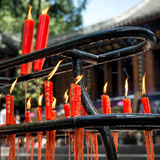 China 10MKm2 Collection - Candles in a Buddhist Temple Photographic Print by Philippe Hugonnard