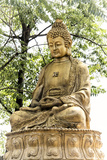 China 10MKm2 Collection - Buddhist Statue Metal Print by Philippe Hugonnard