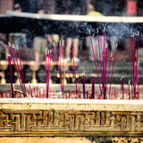 China 10MKm2 Collection - Buddhist Temple with Incense Burning Photographic Print by Philippe Hugonnard