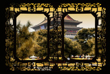 China 10MKm2 Collection - Asian Window - Xi'an Temple at Sunset Photographic Print by Philippe Hugonnard