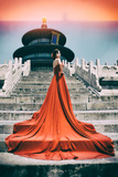 China 10MKm2 Collection - Instants Of Series - Fashion Red Metal Print by Philippe Hugonnard