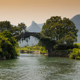 China 10MKm2 Collection - Guilin Yangshuo Bridge Photographic Print by Philippe Hugonnard