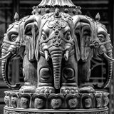 China 10MKm2 Collection - Detail Buddhist Temple - Elephant Statue Photographic Print by Philippe Hugonnard