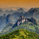 China 10MKm2 Collection - Guilin National Park at Sunset Photographic Print by Philippe Hugonnard