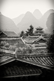 China 10MKm2 Collection - Chinese Buddhist Temple with Karst Mountains Metal Print by Philippe Hugonnard