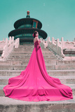 China 10MKm2 Collection - Instants Of Series - Fashion Pink Metal Print by Philippe Hugonnard