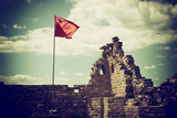 China 10MKm2 Collection - Great Wall with the Chinise Flag Metal Print by Philippe Hugonnard
