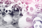 China 10MKm2 Collection - Instants Of Series - Psychedelic Pandas Metal Print by Philippe Hugonnard