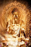 China 10MKm2 Collection - Instants Of Series - Gold Buddha Metal Print by Philippe Hugonnard