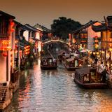 China 10MKm2 Collection - Shantang water Town - Suzhou Fotografie-Druck von Philippe Hugonnard