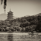 China 10MKm2 Collection - Pagoda at sunset Photographic Print by Philippe Hugonnard