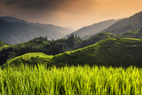 China 10MKm2 Collection - Rice Terraces - Longsheng Ping'an - Guangxi Fotografie-Druck von Philippe Hugonnard