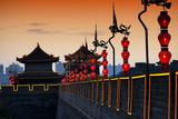 China 10MKm2 Collection - Illumination Night Ramparts - Xi'an City Photographic Print by Philippe Hugonnard