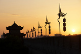 China 10MKm2 Collection - Shadows of the City Walls at sunset - Xi'an City Photographic Print by Philippe Hugonnard