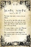 Death Note- User Rules Plakát