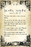 Death Note- User Rules Poster