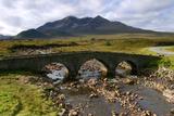 Sligachan Bridge and Sgurr Nan Gillean, Skye, Highland, Scotland Photographic Print by Peter Thompson