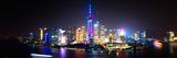 China 10MKm2 Collection - Shanghai Skyline with Oriental Pearl Tower at night Fotografie-Druck von Philippe Hugonnard