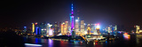 China 10MKm2 Collection - Shanghai Skyline with Oriental Pearl Tower at night Photographic Print by Philippe Hugonnard