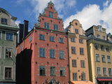 Colourful Houses, Gamla Stan, Stortorget Square, Stockholm, Sweden Photographic Print by Peter Thompson