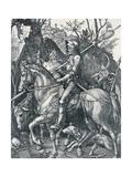 The Knight, Death and the Devil, 1513 Reproduction procédé giclée par Albrecht Dürer