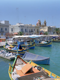 Fishing Boats in the Harbour, Marsaxlokk, Malta Photographic Print by Peter Thompson