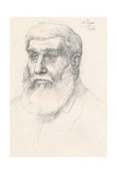Head of a Peasant, 1902 Giclee Print by Alphonse Legros
