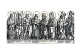 The Patron Saints of Austria, 1515 Giclee Print by Albrecht Dürer
