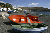 Fishing Boats, La Lajita, Fuerteventura, Canary Islands Photographic Print by Peter Thompson