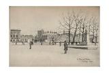 Place De Linstitut, 1915 Giclee Print by Eugene Bejot
