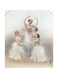 The Celebrated Pas De Quatre: Composed by Jules Perrot, C1850 Giclee Print by TH Maguire