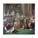 Painting of Napoleon Buonaparte and Empress Josephine, 18th Century Giclee Print by Jacques-Louis David