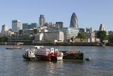 Looking across the Thames Towards the City of London Photographic Print by Peter Thompson