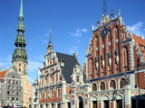House of Blackheads and St Peters Church, Riga, Latvia Photographic Print by Peter Thompson