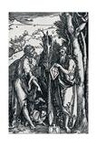 St John the Baptist and St Onuphrius, 1504 Reproduction procédé giclée par Albrecht Dürer