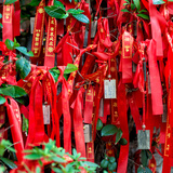 China 10MKm2 Collection - Prayer Ribbons - Buddha Temple Photographic Print by Philippe Hugonnard