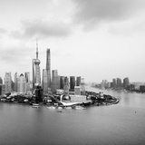 China 10MKm2 Collection - Shanghai Skyline with Oriental Pearl Tower Fotografie-Druck von Philippe Hugonnard