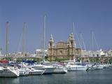 Marina and Church, Malta Photographic Print by Peter Thompson