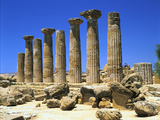 Temple of Hercules, Agrigento, Sicily, Italy Photographic Print by Peter Thompson