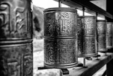 China 10MKm2 Collection - Prayer Wheels Photographic Print by Philippe Hugonnard